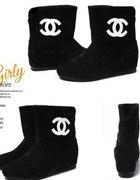 Botki Chanel Hit rozmiary czarne i camel replika