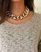 złoty łańcuch naszyjnik
