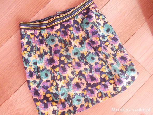 Spódnice spódnica tulipan kwiaty 38 M h&m Edyta Herbuś