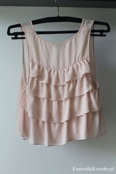 PUDROWY CROPPED TOP FALBANY TOPSHOP