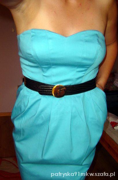 Suknie i sukienki eleganca sukienka niebieska pretty girl okazja