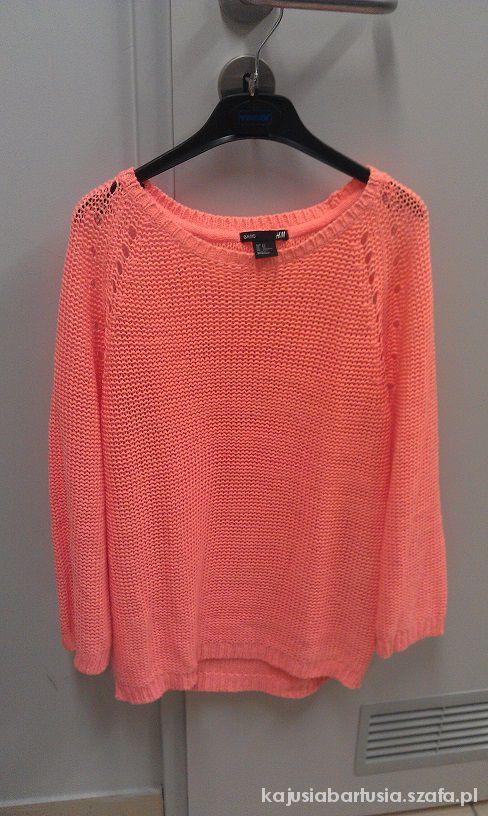 Swetry Pomarańczowy Sweterek Neon