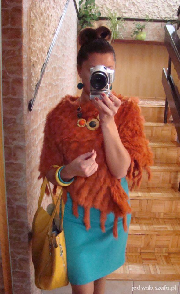 Mój styl Jesiennie turkus musztarda i bordo