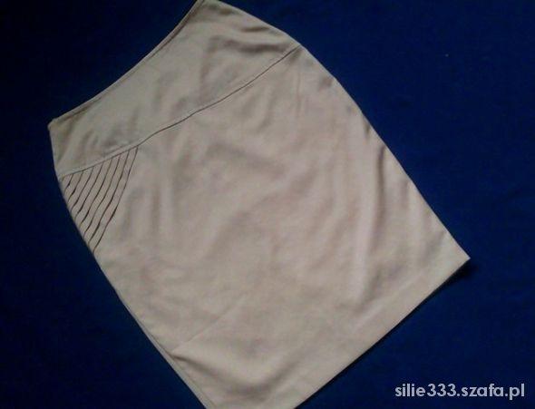 Spódnice Ołówkowa musztardowa spódnica M L
