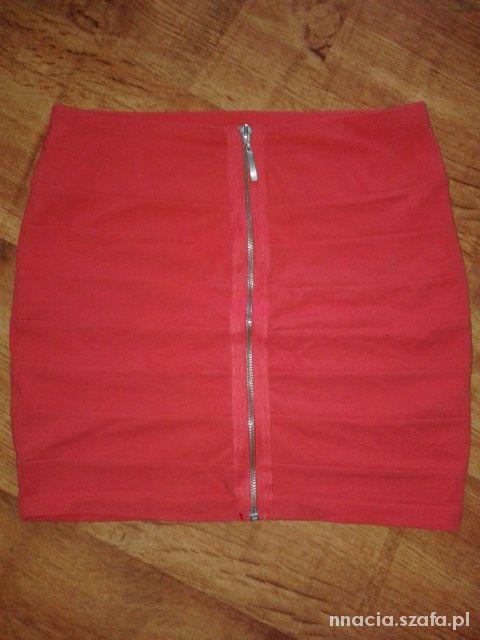 Spódnice Czerwona spódniczka z Zipem