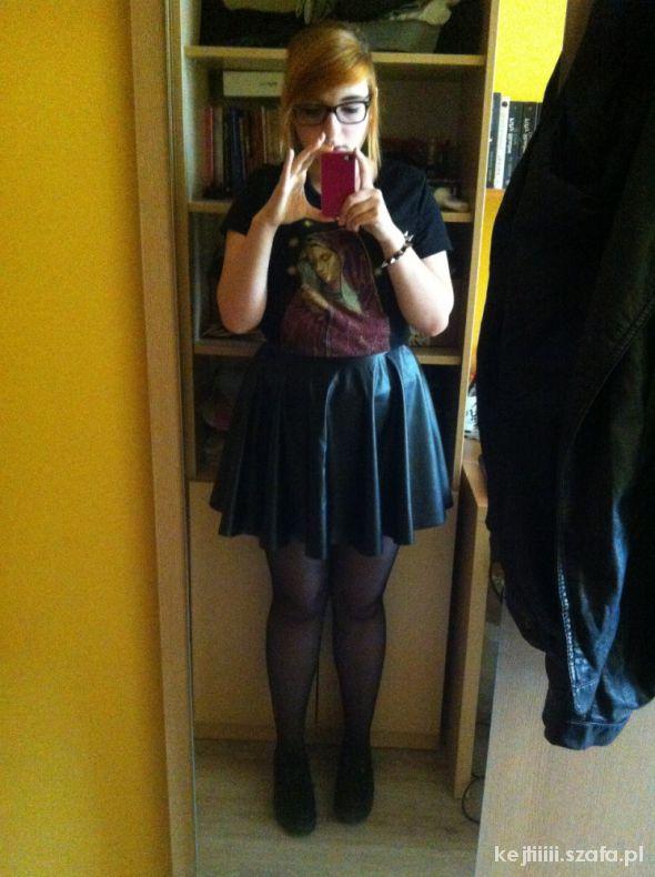 Mój styl Skórzana spódniczka plus tribal