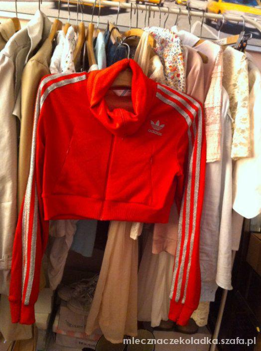 bluza Adidas Oldschool czerwona śliska 38 w Bluzy Szafa.pl
