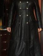 Płaszcz skórzany militarny goth metal...