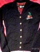 Sweterek GRANDA z wisienkami rozpinany