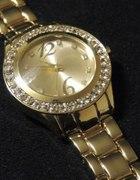 NEW YORKER zegarek złota bransoleta męska
