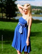 Chabrowa zwiewna sukieneczka