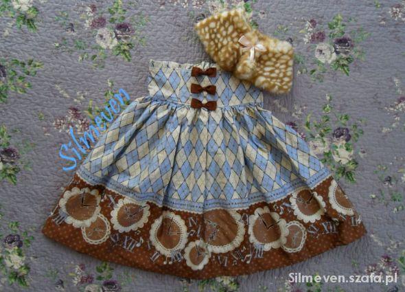 Spódnice Błękitna spódnica Antique Clock