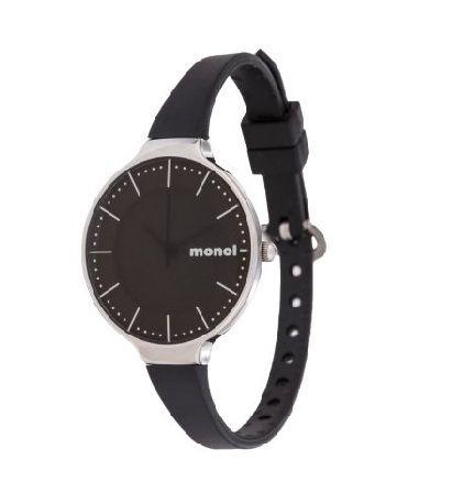 czarny zegarek monol