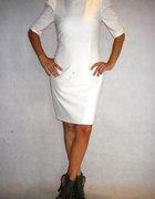 Sukienka Orsay bufki biała ecru...