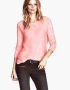 H&M sweterek różowy
