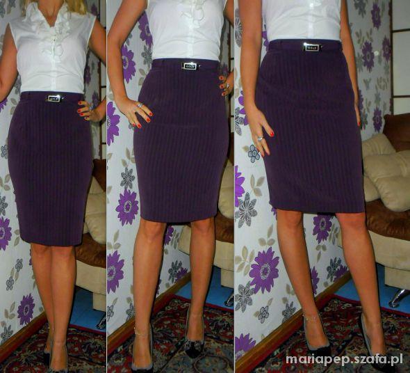 super modna fioletowa spódnica z paskiem r 42...