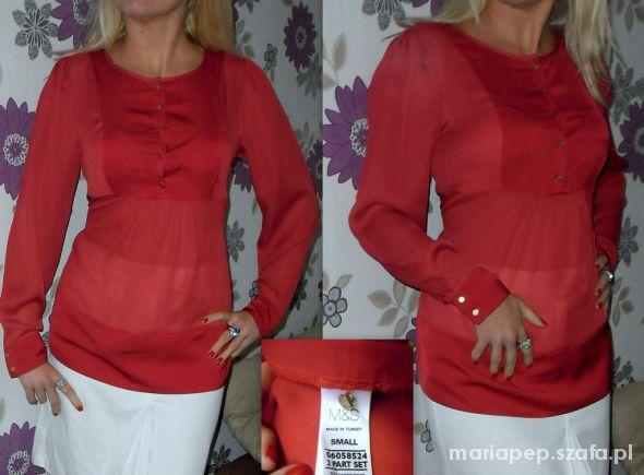 m&s modna czerwona bluzka r 38...