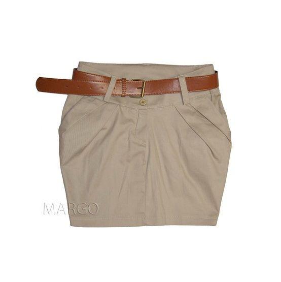 Spódnice beżowa spódniczka TULIPAN
