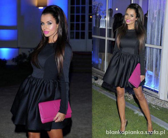 Eleganckie Piękna pikowana sukienka
