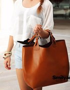 Torebka camel zarka shopper bag