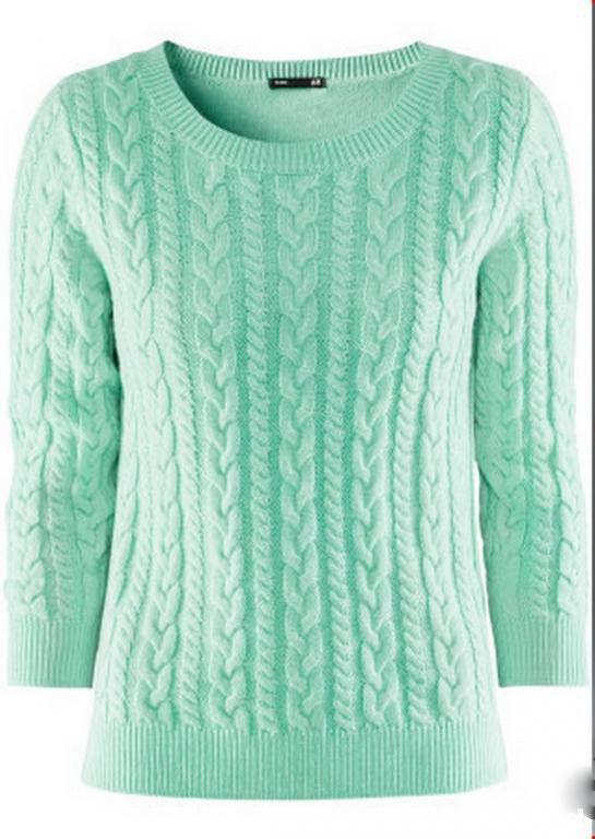 Sweter miętowy 36 nowy lub w stanie idealnym