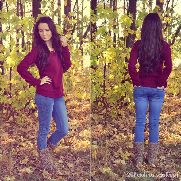 jesiennie burgund