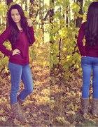 jesiennie burgund...