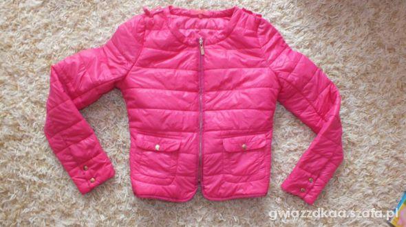 różowa kurtka pikowana S