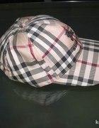 Burberry czapka z daszkiem kratka