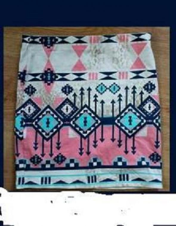 Spódnice aztecka bershka s