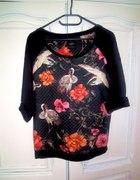 Pikowana bluza w żurawie