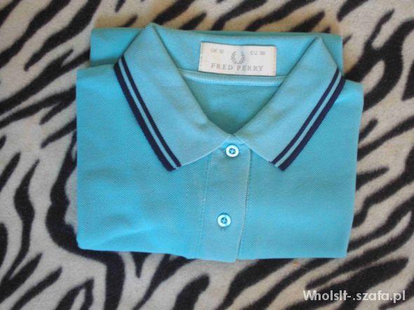 Koszulki FRED PERRY niebieska damska polówka M