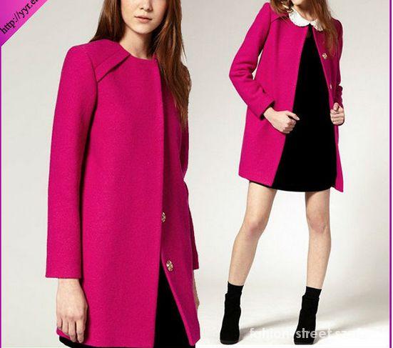 Odzież wierzchnia Najnowszy Model Amarant Płaszcz NOWY