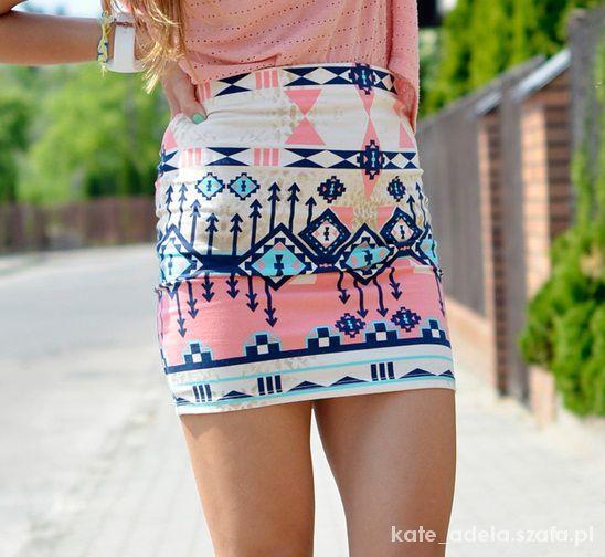 Spódnice Aztecka spódniczka Bershka M
