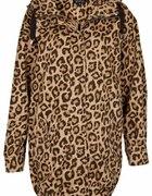Top Shop Leopard Ovoid Parka Jacket