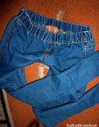 tregginsy spodnie na gumie
