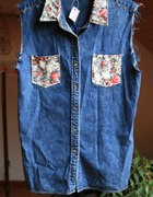 Jeansowa koszula floral DIY