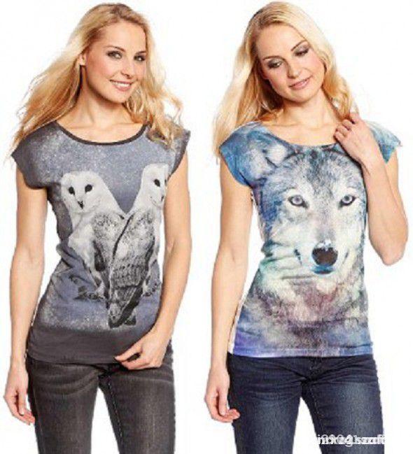 bluzka z wilkiem CA...