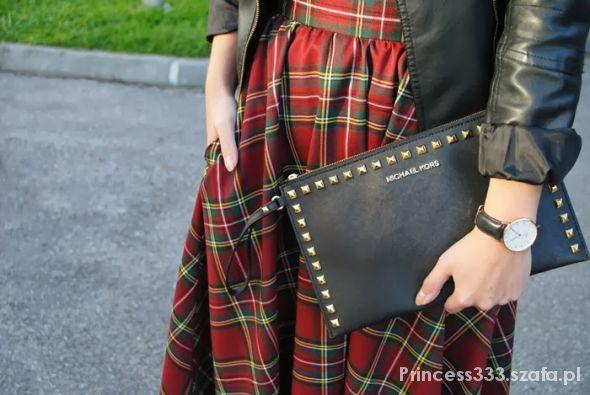 spódnica w kratę midi hit sezonu blogerki krata w Spódnice