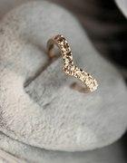 Pierścionek złoty serce cyrkonia
