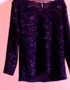 czarny sweter złota nitka z tyłu zip 36