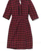 sukienka HOUSE czerwona kratka