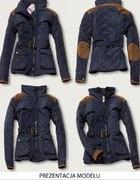 kurtka łaty pikowana