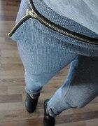 mega spodnie z zipami