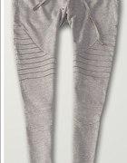 dresowe spodnie przeszycia szare
