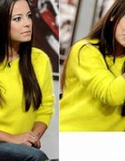 H&M limonkowy sweter z angoy 36