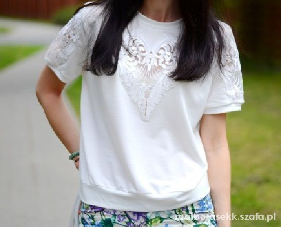 Bluza ROMWE biała szukam
