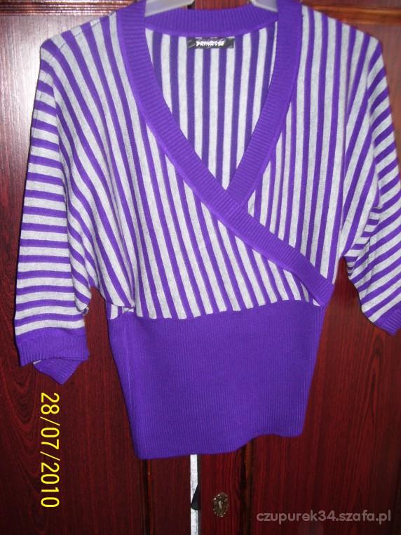 Bluzki nowa kopertowa bluzeczka z dodatkiem kaszmiru w p