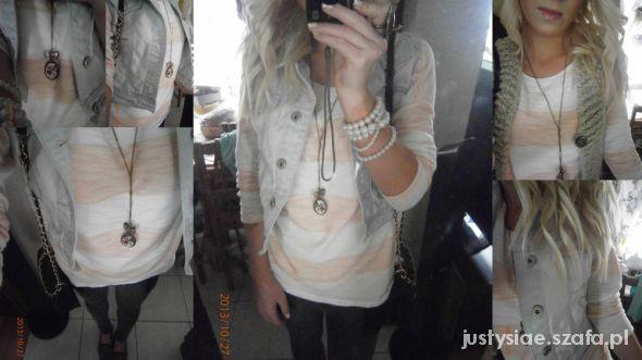 Mój styl Kamizelka Legginsy Sweterek