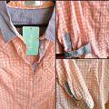 brzoskwiniowa koszula w kratkę blogerska Cropp